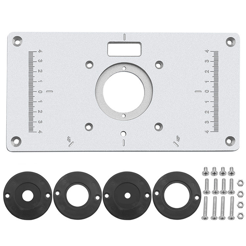 235mm X 120mm X 8mm Trimming Machine Flip Panel Woodworking Router Table Insert Plate