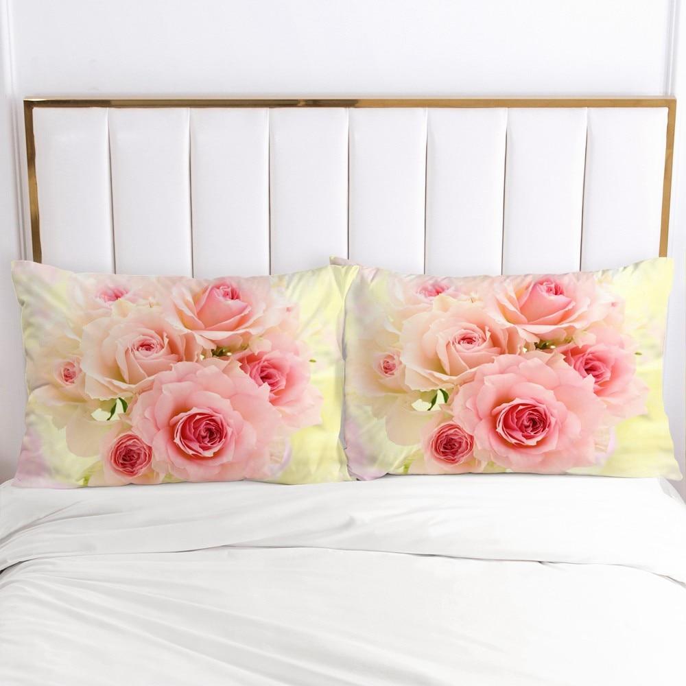 3D Pillow Case Pillowcase Custom 50x70 50x75 50x80cm Decorative Pillow Cover Bedding For Wedding Flowers Drop Ship Home Textile