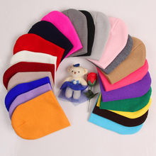 Casual Winter Knitted Beanies For Kids High Quality Soft Baggy Hedging Cap New Simple Wool Fur Warm Gravity Falls Hemming Cap(China)