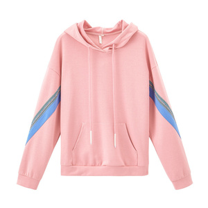 Image 5 - INMAN 2020 Spring New Arrival Hooded Dropped Shoulder Sleeve Personality Fashion Leisure Color Matching Loose Soprt Sweatshirt