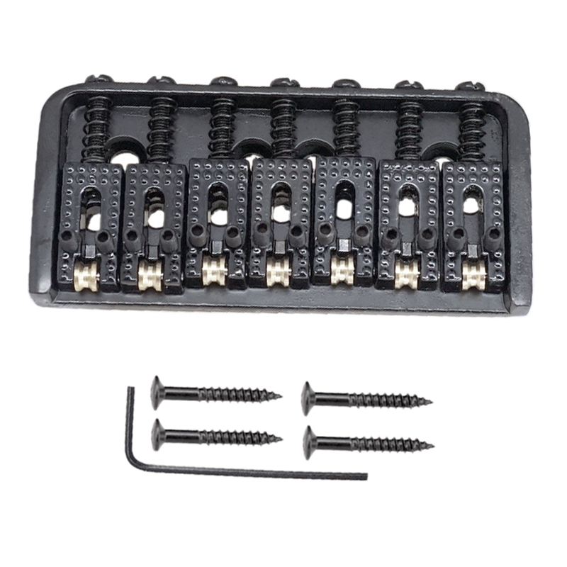 7 String Electric Guitar Ball String Code Bridge Pull String 7 String Roller Bridge Fixed Bridge Pull String Black