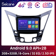 Seicane 안 드 로이드 9.0 9 인치 HD 터치 스크린 DVD 2din 자동차 라디오 GPS Navi 시스템 2011 2012 2013 2014 2015 현대 소나타 i40 i45
