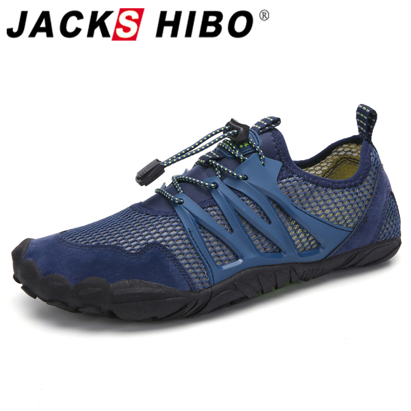 JACKSHIBO Water Shoes Sneakers For Men Male Beach Swimming Shoes Breathable Hiking Upstream Shoes Surfing Sport Sneakers Shoes