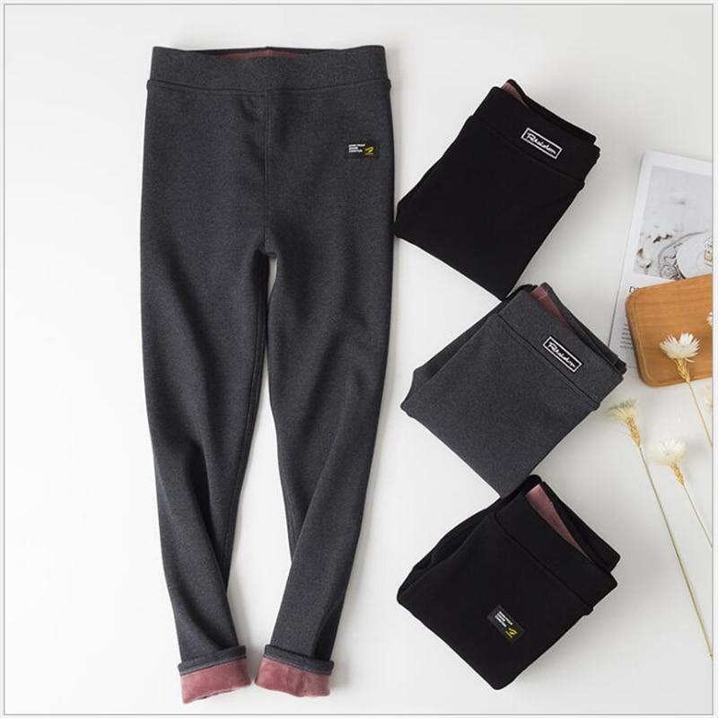 2019 Autumn Winter Thickening Women Leggings Cotton Fur Lock Hot Lady Leggings Pencil Keep Warm Plus Velvet Women Legging S162