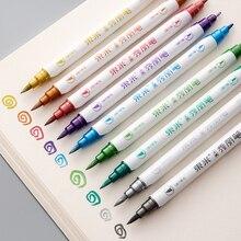 Color Art Markers Metallic Art Brush Double Pencil Marker Pen Drawing Pen Andstal 10 Colors Set Dual Tips, Brush+f ANDSTAL 009
