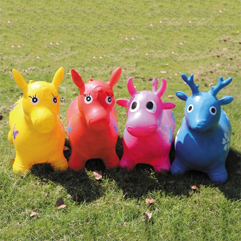 Inflatable Jumping Horse Inpany Bouncy Horse Hopper Bouncing Animal Toys For Kid 72XC