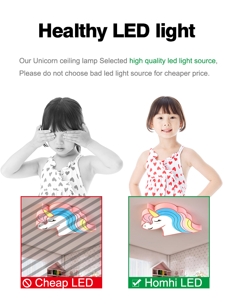 Hfd476538ecae4e15ae0c62de9d503648D Unicorn kids room light led ceiling lights with remote control cartoon lampshade children room cute ceiling lamp deco child room