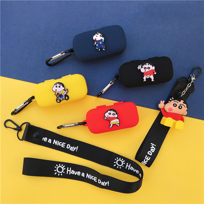 Cartoon Cute Soft Silicone Case For QCY T5 Wireless Bluetooth Earphone Protect Cover With Hook Lanyard Decor For QCY T5