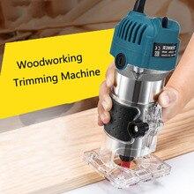 Holz Elektrische Hand Trimmer Holzbearbeitung Gravur Stoßen Trimmen Hand Carving Maschine Holz Router Set