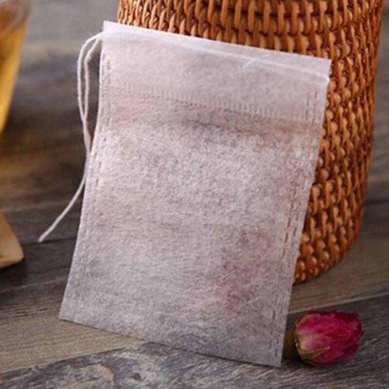 100pcs/lot Corn Fiber Empty Tea bag food grade PLA Biodegraded Teabag 6*8CM
