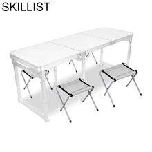Escrivaninha Tisch Tavolo Camping Yemek Masasi Pliante Outdoor Furniture Redonda Desk Mesa Plegable Folding Dining Room Table