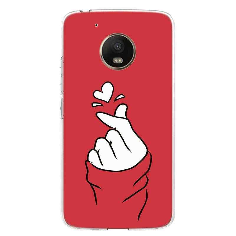 أسود أبيض الحب kpop الهاتف جراب لهاتف Motorola موتو G7 G8 G6 G5S G5 E6 E5 E4 زائد G4 اللعب قوة واحدة X4 الاتحاد الأوروبي هدية غطاء Coque