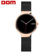 цена на Women Watches DOM Brand Luxury Fashion Quartz Ladies Watch Clock Rose Gold Dress Casual girl relogio feminino Watches women G-32