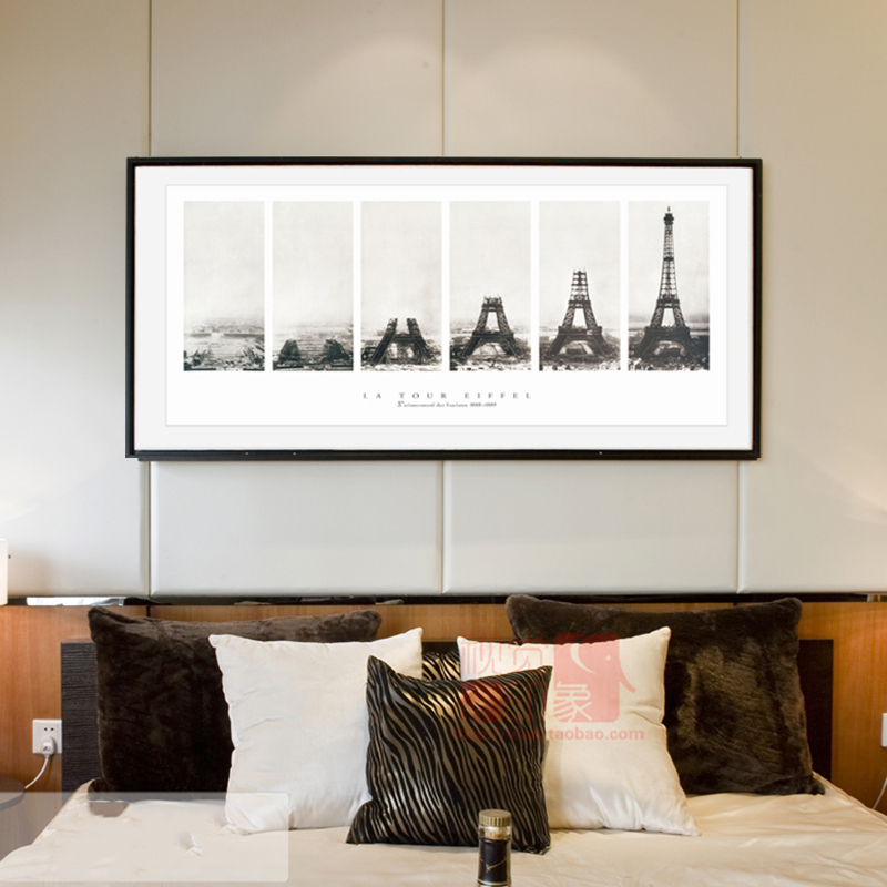 Modern Pictures Paris Tower Black White Art Canvas Painting  Wall Art Pictures For Living Room Posters and Prints Decor Pictures|Painting & Calligraphy| |  - title=
