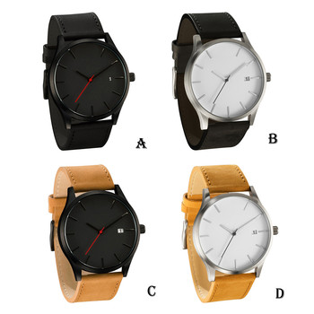 Large Dial Quartz Leather Business Casual Wristwatch 3