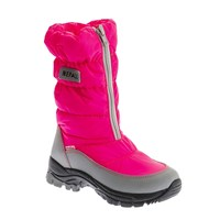 Nepall Marilene 27 Fuchsia Kids Boots Leather Keep Warm Sports Running Winter Shoes Boys Girls Durable Outdoor Hiking Shoes