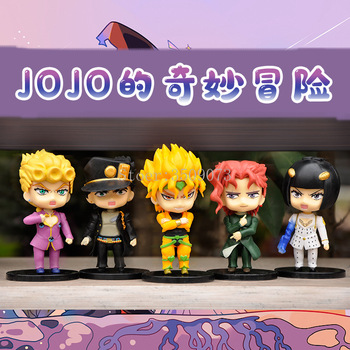 5pcs/set Anime Jojo Bizarre Adventure Figure Kujo Jotaro Figurine Higashikata Josuke Kakyoin Noriaki Action Figure Model Toy