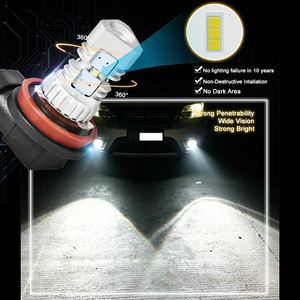 Image 4 - CNSUNNYLIGHT 2pcs LED Car Light H11 H8 Fog Lamps H7 H4 9005 HB3 9006 HB4 Daytime Running Lights Turning Parking Driving Bulb 12V