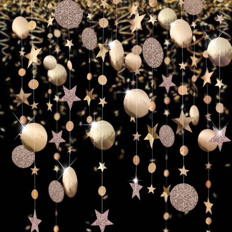 Christmas Decorations for Home 4M Twinkle Star Snowflake Paper Garlands Pendant New Year 2020 Decor Noel Navidad Ornaments Kerst(China)