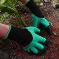 4/8 ручной коготь ABS пластик садовые резиновые перчатки Садоводство копания посадки прочные водонепроницаемые рабочие перчатки открытый га...