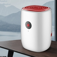 Electric Dehumidifier Mini Portable Air Dryer Desiccant Moisture Absorber Low Noise Cabinet Dehumidifier for Home Bedroom Office