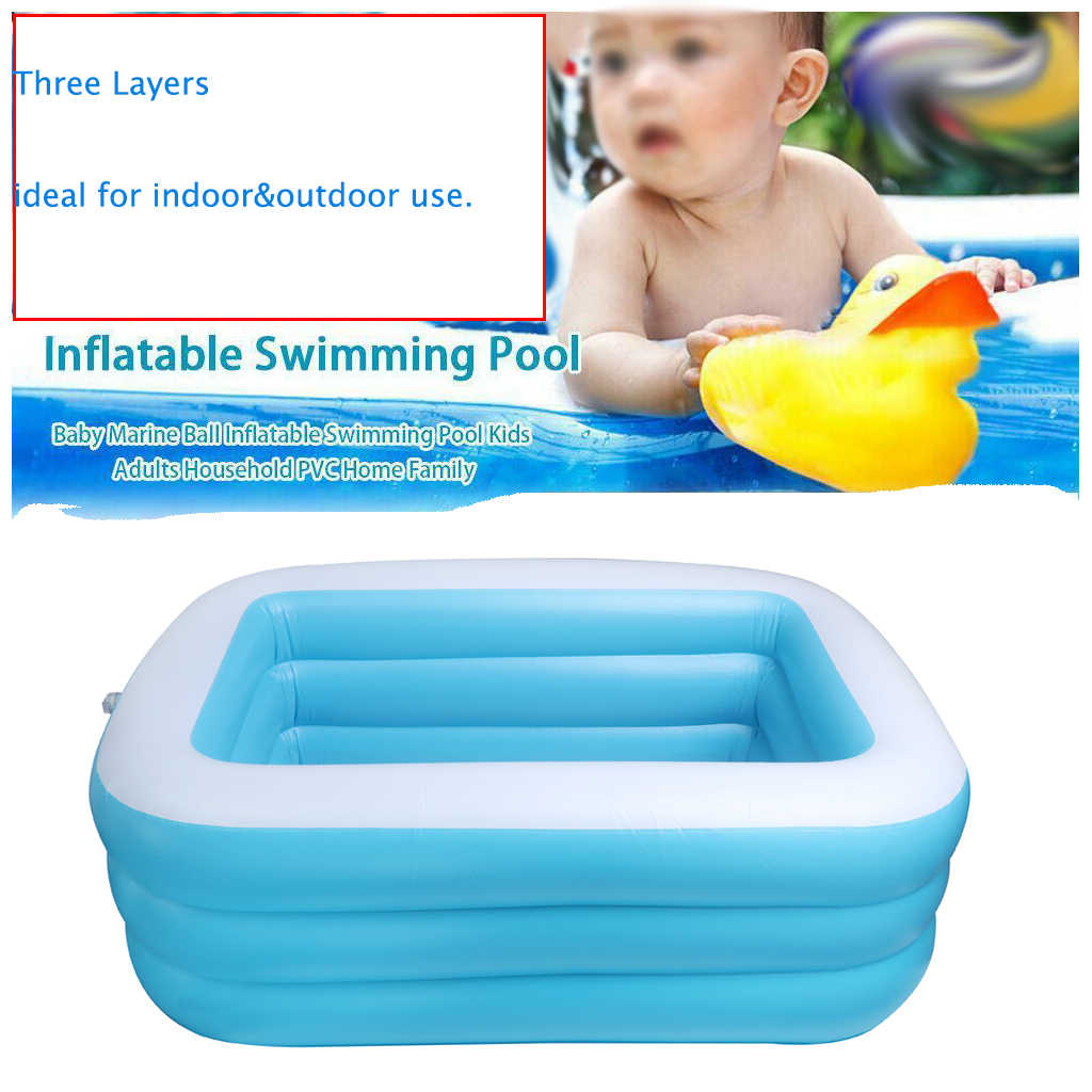 Inflatable Swimming Pool Paddle Pool for Kids Adult Water Play Bathtub