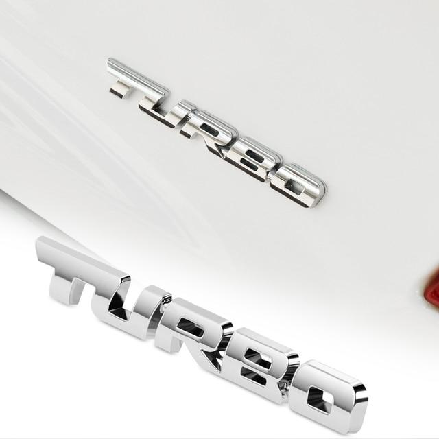 Metalowe TURBO Logo emblemat naklejki samochodowe dla Opel astra Mokka VW Golf Jetta Tiguan Peugeot 206 207 208 508 Seat Leon ibiza