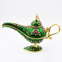 Free Shipping India Arabian Aladin Lamp Souvenir Vintage Retro Genie Lamp Easter Home Decoration Collectible Magic Lamp