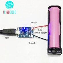 3.7V lityum pil şarj cihazı koruma levhası 5V 1A 2A Li ion Lipo pil şarj koruma iki bir arada modül mikro USB C tipi