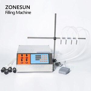 Image 4 - ZONESUN 4nozzle Bottle Water Filler Semi Automatic Liquid Vial Filling Machine For Juice Beverage Soy Sauce Oil Perfume
