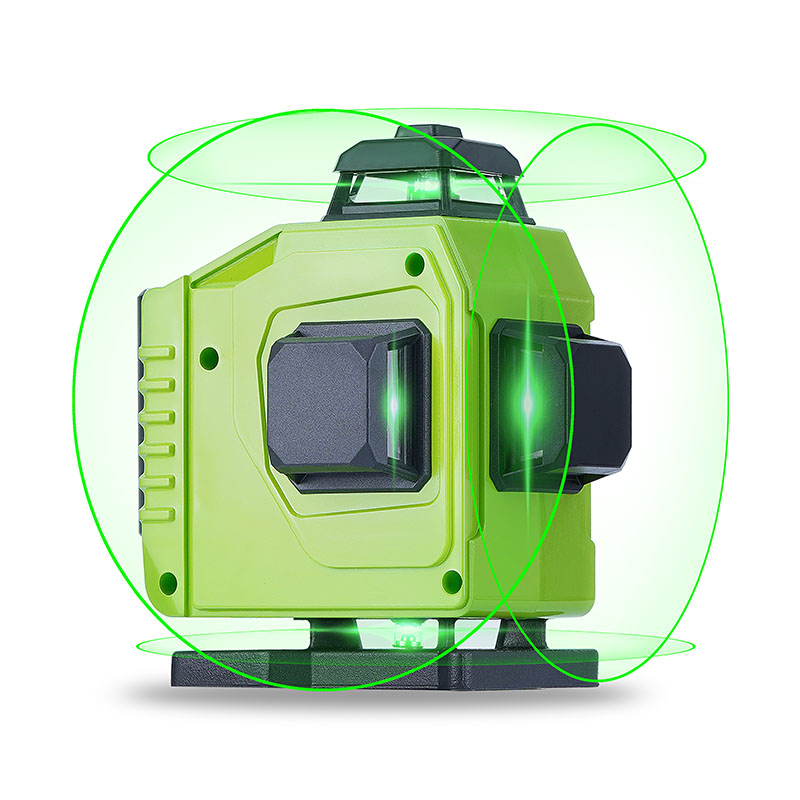 16 Lines Laser Level Powerful 3D Self-Leveling Horizontal amp Vertical Cross Lines 360 Degrees Rotary Adjustment