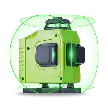 16 linien Laser Level Leistungsstarke 3D Selbst Nivellierung Horizontale & Vertikale Kreuz Linien 360 Grad Dreh Einstellung