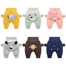 Baby cute pants boys girl cartoon high waist protection belly children toddler spring autumn newborn infant trousers cheap stuff