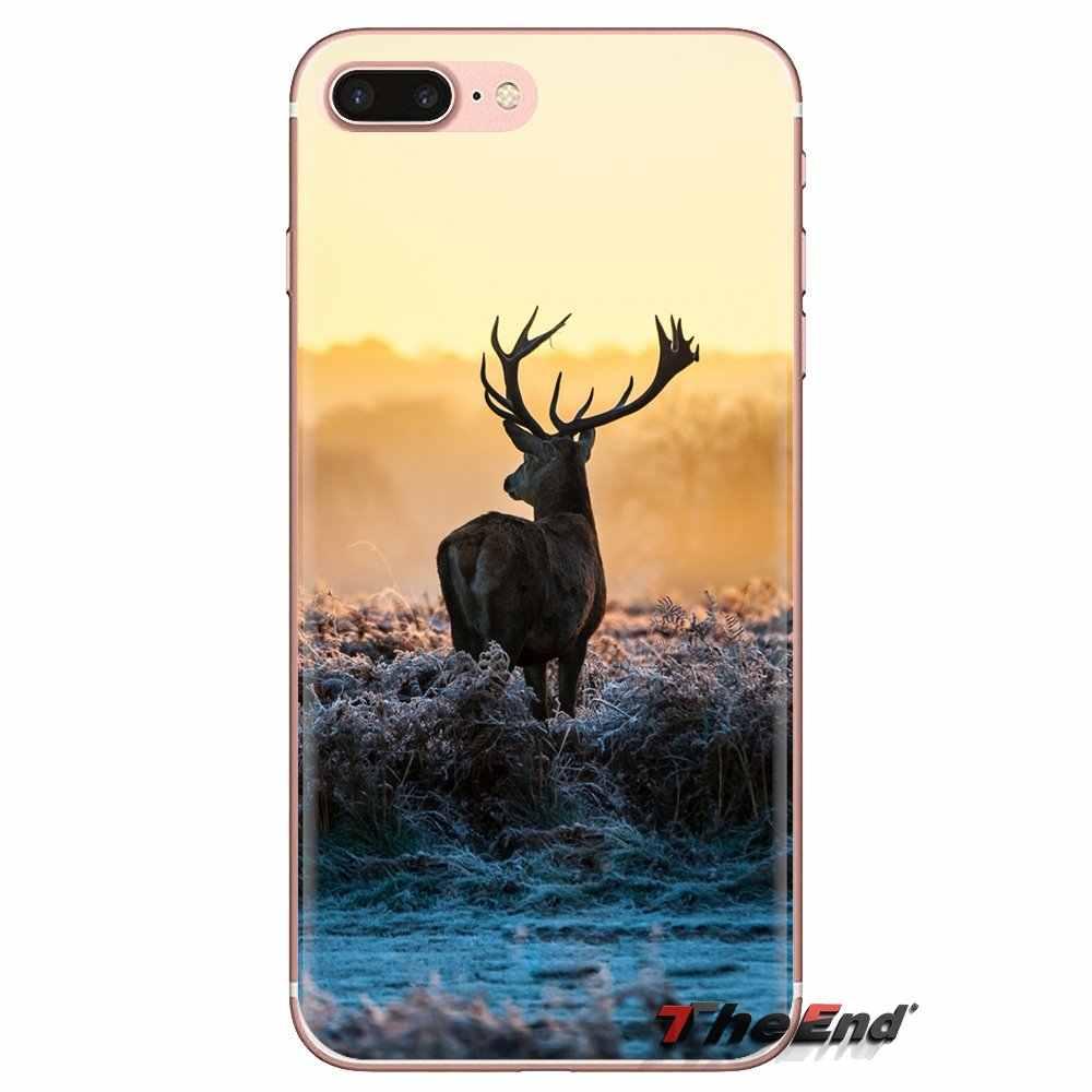 Rena elk cervos Transparente Casos Suaves Capas Para Huawei Companheiro Honra 4C 5C 5X6X7 7A 7C 8 9 10 8C 8X20 Lite Pro