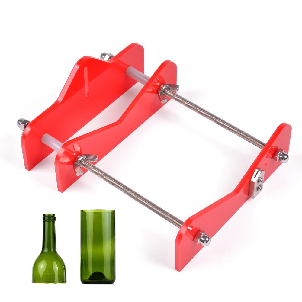 Hot Glass Bottle Cutter Acrylic DIY Wine & Beer Bottle Cutting Tool With Sandpaper DIY Cut Tools For Wine Beer Bottles Mason Jar