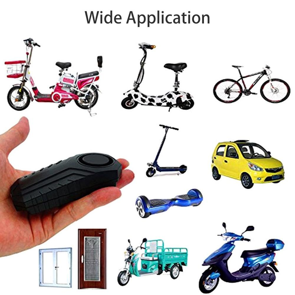 The New Durable Remote Control Electric Bike Security Anti-theft Vibration Sensor Warning Alarm