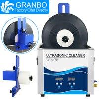Ultraschall reiniger bad 6.5L 180W vinyl aufzeichnungen washer mit multi-farbe legierung heber halterung 6rpm motor LP CD nadel tracks