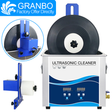 Ultrasone Reiniger Bad 6.5L 180W Vinyl Records Washer Met Multi color Legering Lifter Beugel 6 Rpm Motor Lp cd Naald Tracks