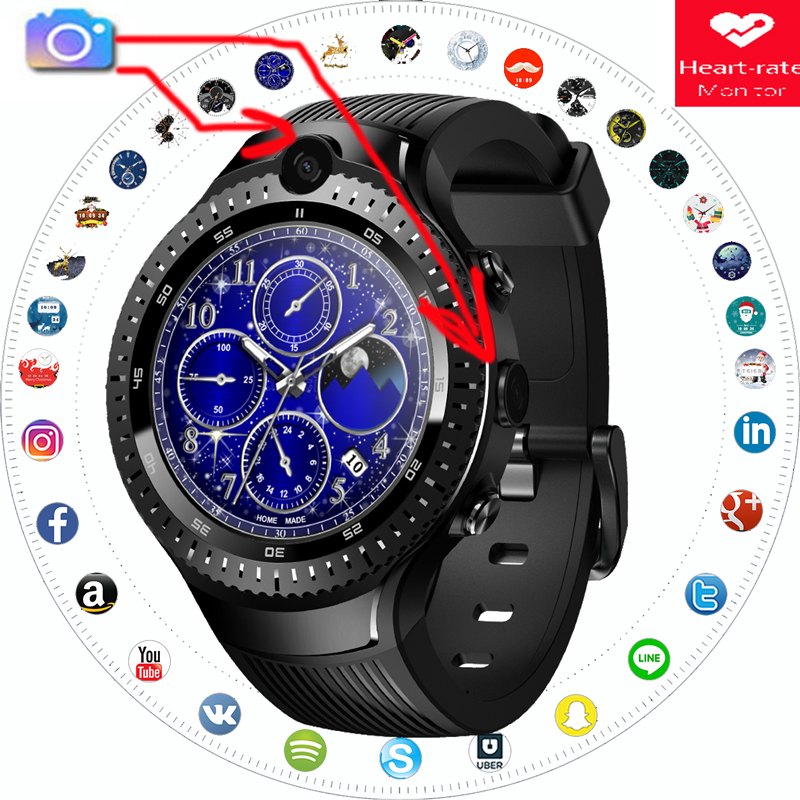 Zeblaze thor 4 Dual vibe 3 pro 5 montre intelligente hommes SIM 4G smartwatch double caméra GPS/GLONASS moniteur de fréquence cardiaque réponse cadran d'appel
