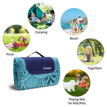 Outdoor Picnic Blanket Waterproof Extra Large Folding Picnic Mat Beach Blanket With Waterproof Backing For Family Concerts Beach