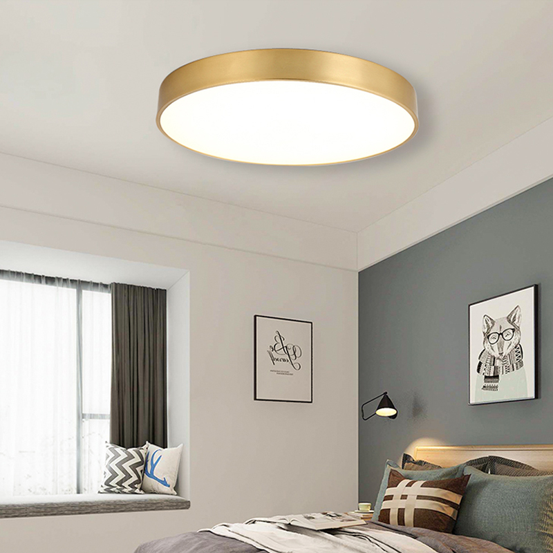 Modern Gold LED Ceiling Light Surface Mounted Acrylic Ceiling Lamp Living Room luminaire nordic Lamp Indoor fixture Lighting