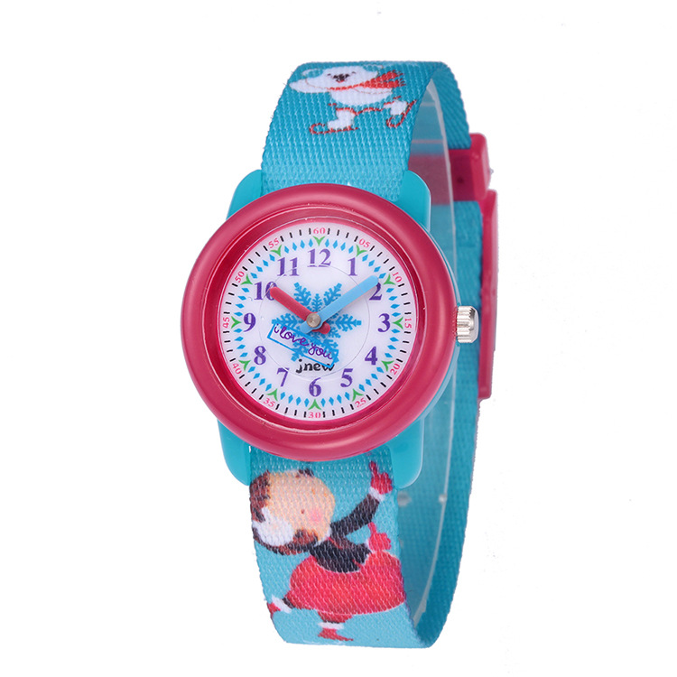 JNEW Brand Direct Sales Children's Cartoon Watches Waterproof Children's Awareness Time Ribbon Cartoon Quartz Wristwatches