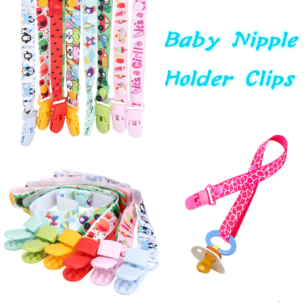 Cartoon Baby Soother Holder Pacifier Holder Clips Soother Holder New Baby Pacifier Clip Pacifier Chain Dummy Clip Nipple Holder