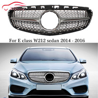 W212 Diamond grille Front Bumper Grill Mesh for Mercedes E class W212 with AMG package 2014 2016 E200 E250 E300 E350 E400