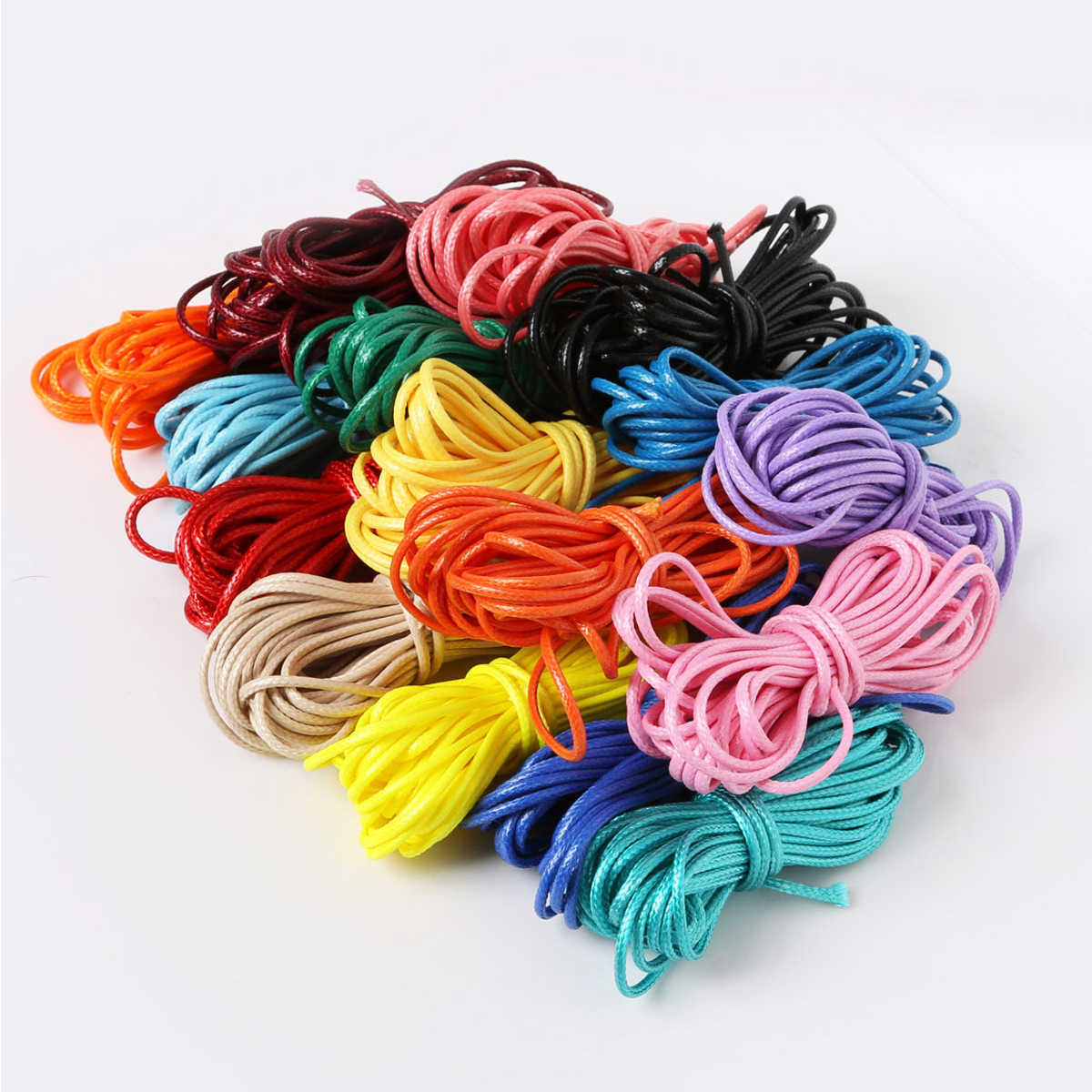 Baby DIY Pacifier Clips Fixed Rope 2mm Colorful Jewelry Bracelet Crib Toy Knitting Rope Teething Waxed Wind Rope