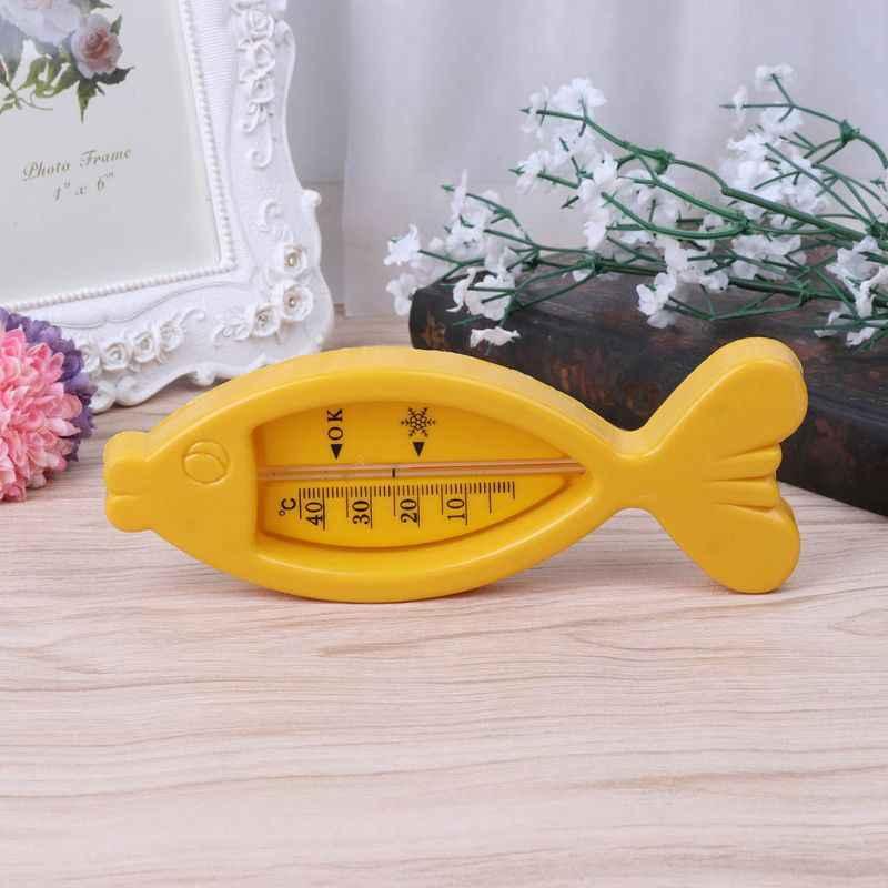 طفل مقياس حرارة الماء بشاشة LCD مضاد للماء الأسماك سلامة حوض الاستحمام حمام اللعب عرض درجة حرارة الماء