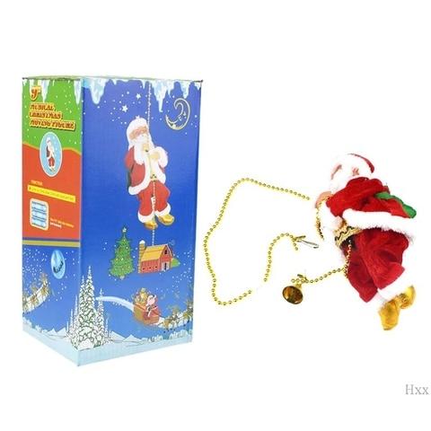 papai noel eletrico escalada corda boneca brinquedo para festa de natal decoracao de parede