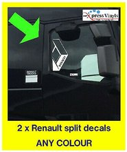 For Renault window decals x 2. split logo truck graphic stickers van