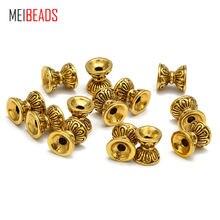 Meibeads 50 шт/лот модные ретро бусины 8*8/6*6 в форме лотоса