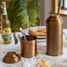 Pure Copper Storage Tank Storage Box High-Grade Carved Coffee Tea Pot Sucrier Slightly Luxury Decoration Ornaments